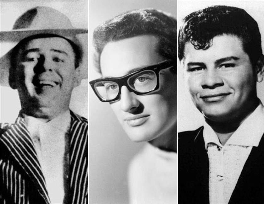The Big Bopper, Buddy Holly, & Ritchie Valens. Click for our Collection.
